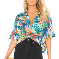 Father's Daughter Amber Island Shirt in Palm