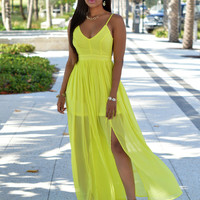 Chiffon Overlay Strap Dress