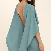 Best is Yet to Come Turquoise Blue Backless Dress