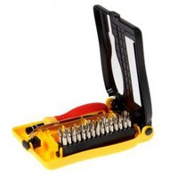 Practical 32 in1 Screwdriver and Tweezers Professional Interchangeable Tool Set with Spring Case