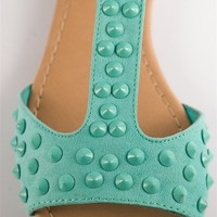 Studded Spartan Sandals - Mint from Sandals at Lucky 21 Lucky 21