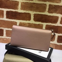 Gucci woman pink Leather wallet