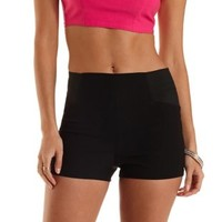 Stretchy High-Waisted Shorts by Charlotte Russe