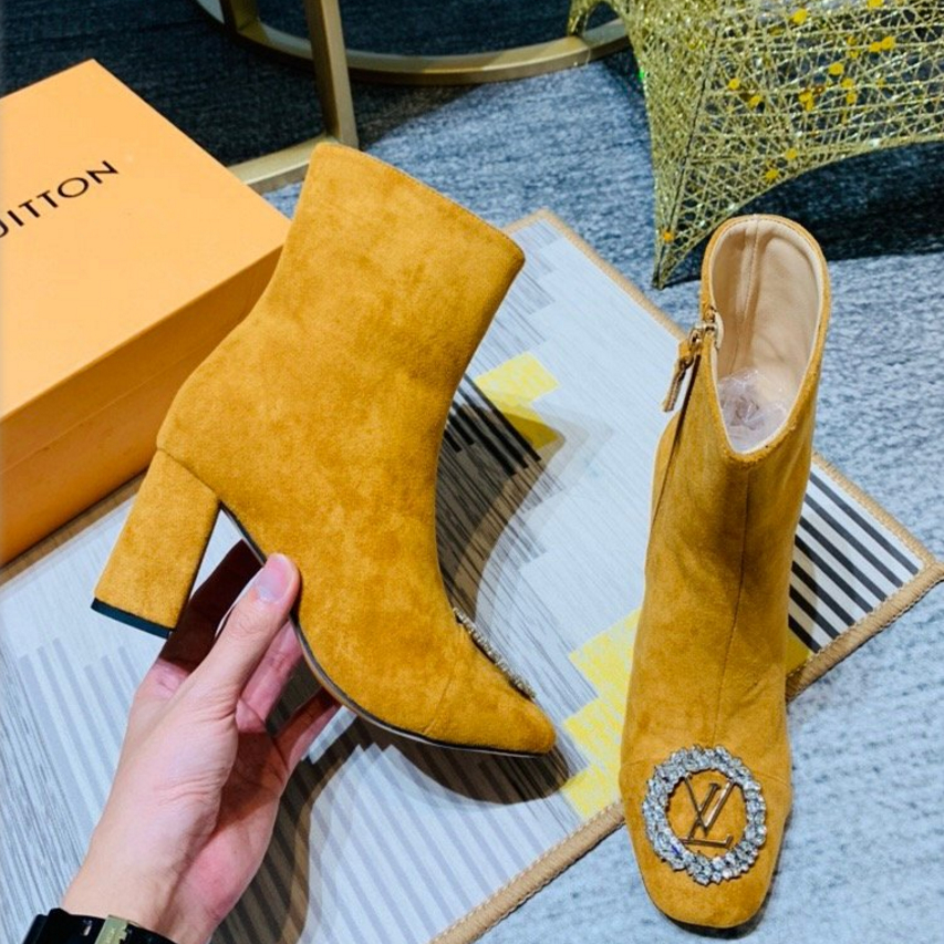 Image of Louis Vuitton LV Suede Ankle Boots