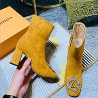 Louis Vuitton LV Suede Ankle Boots