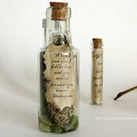 When I Saw You.... Message in a Bottle, Message Necklace,Inspirational Quote Message, Love Note in a Bottle