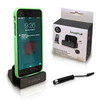 iPhone Charger Docking Station+ Stylus + Dust Plug , Best USB Lightning Cable, Charge & Sync Stand