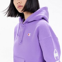 Champion UO Exclusive Script Sleeve Hoodie Sweatshirt | Urban Outfitters