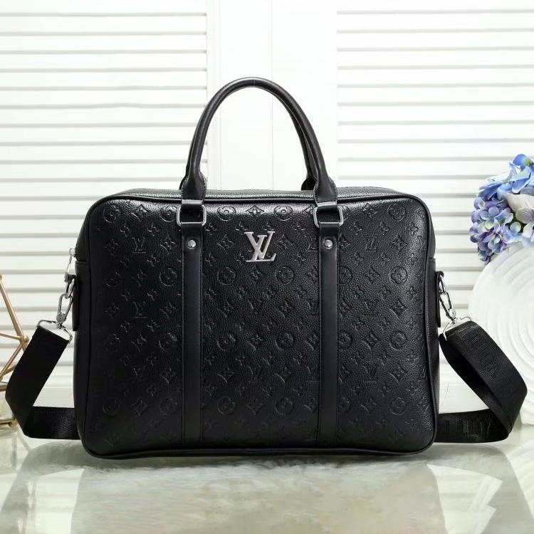 Image of Louis Vuitton LV classic casual business large-capacity briefcase white-collar student bag laptop bag casual men and women fashion one-shoulder messenger bag