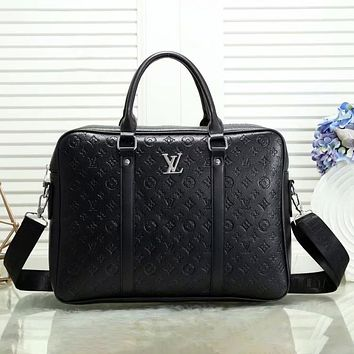 Louis Vuitton LV classic casual business large-capacity briefcase white-collar student bag laptop bag casual men and women fashion one-shoulder messenger bag
