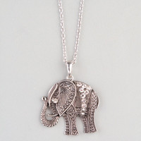 Full Tilt Filigree Elephant Pendant Silver One Size For Women 22865114001
