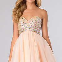 Strapless Short A-Line Party Dress by Blush