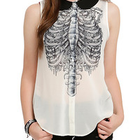 Iron Fist Ivory Rib Cage Top