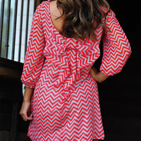 Can't Resist It Bow Dress: Red/Grey | Hope's