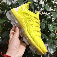 NIKE Air VaporMax New fashion sports leisure air cushion couple shoes Yellow