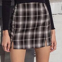 Skrrtt Skrrttt Plaid Mini Skirt
