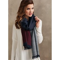 Carmen Color Block Blanket Scarf