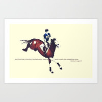 Bedouin Legend - Horse Art Print by Camille Cullinan