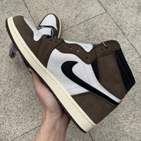 Air Jordan 1 Hi OG x Travis Scott TS  Men Basketball Sneaker Shoes CD4487_100