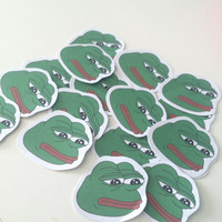 10 PEPE STICKERS