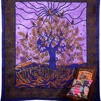 Psychedelic Tree of Life Hippie Tapestry Indian Bedspread Bedsheet Cover Throw Boho Bohemian Wall Hanging Coverlet Blanket Ethnic Home Decor