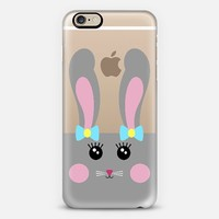 Cute Gray Bunny iPhone 6 case by Organic Saturation | Casetify