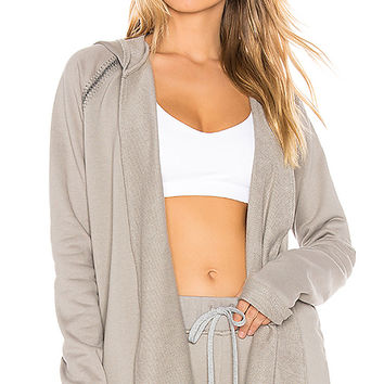 Maaji Hooded Wrap Layer in Zephyr Oyster | REVOLVE
