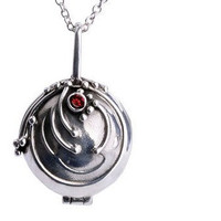 Vervain Necklace/Vampire Diaries inspired locket necklace/vampire jewelry/verbena necklace/openable/silver tone