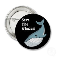 Save The Whales Buttons from Zazzle.com