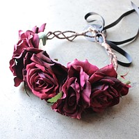 Rock N Rose - Beatrice Handmade Floral Crown