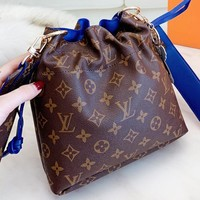 LV Louis Vuitton New fashion monogram print leather shoulder bag crossbody bag bucket bag