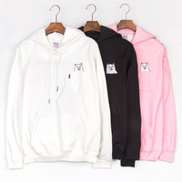 Ripndip Fashion Print Long Sleeve Cotton Top Sweater Pullover