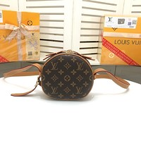 LV Louis Vuitton MONOGRAM CANVAS SMALL BOITE CHAPEAU SOUPLE INCLINED SHOULDER BAG