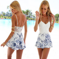Women Sexy Print Sundress Dress