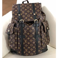 Louis Vuitton monogrammed casual women's high-volume backpacks