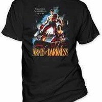 ARMY OF DARKNESS TRAPPED IN TIME MENS TEE