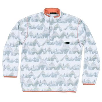 North Basin Pullover in White & Gray by Southern Marsh
