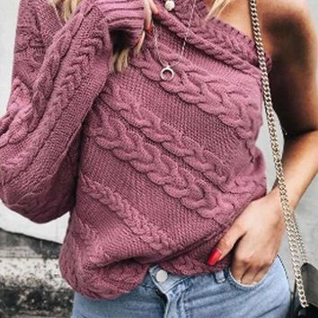 Wyatt One-Shoulder Sweater