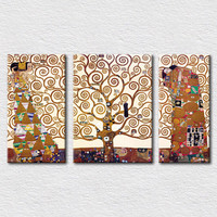 World famous painting tree of life by Gustav Klimt pictures for modern living room wall decoration canvas painting