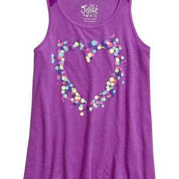 MESH GRAPHIC TANK | GIRLS BORN TO BE FIERCE ACTIVE THE COLLECTIONS | SHOP JUSTICE