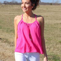 Fly Away Top in the Hot Pink