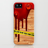 Crime Scene - for iphone iPhone & iPod Case by Simone Morana Cyla
