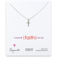 Dogeared I Have Faith In Us, Simple Cross Necklace Sterling Silver