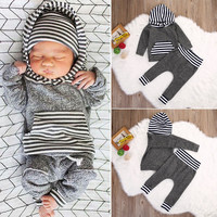 Newborn Infant Baby Boys Girls Clothes Set Hoodie Tops Warm Clothing + Pants Leggings Baby Boy Outfits Set 0-3Y