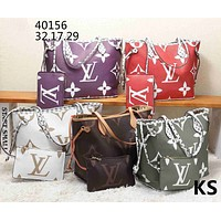 LV tide brand female models simple large capacity handbag shoulder bag two-piece