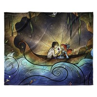 "Mandie Manzano ""Something About Her"" Mermaid Fleece Throw Blanket"