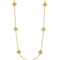 """Jessica Simpson 50"""" Lace Station Necklace - Gold"""