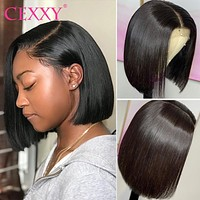 Short Bob Wigs Straight Lace Front Human Hair Wigs Pre Pluck