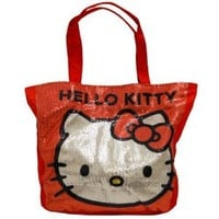 """Hello Kitty 13x12"""" Red Sequin Tote Bag"""