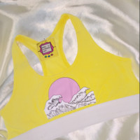SWEET LORD O'MIGHTY! WAVY SPORTY BRALET IN YELLOW
